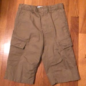 Old Navy boys brown cargo shorts. Size 12.